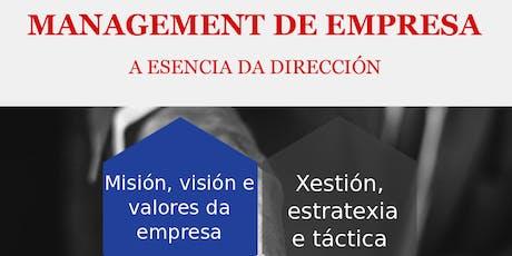 MASTERCLASS - MANAGEMENT DE EMPRESA entradas