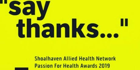 Passion For Health Awards Night Friday 6th Sep 2019 tickets