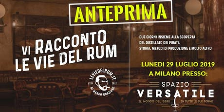 Vi Racconto Le Vie Del Rum (Anteprima) di M.Graziano  biglietti