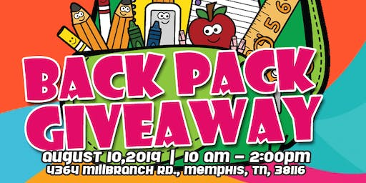 Backpack Give Away - TLC Learning Academy 1 & 2