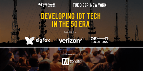 Developing IoT Tech in the 5G Era: Talks by Verizon, Sigfox and OE Solutions tickets