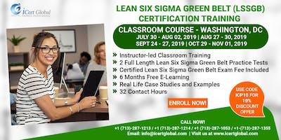 Lean Six Sigma Green Belt Certification Training Course in Washington, DC, USA.