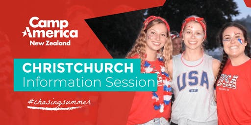 Christchurch Camp America Info Night - Tuesday 27th August 2019