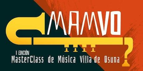 Master Class MAMVO Saxofón - Juan Pedro Luna biglietti