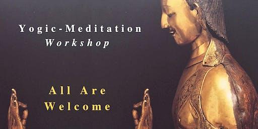 YOGIC-MEDITATION GALWAY WORKSHOP Saturday 24 August 10-11:30am