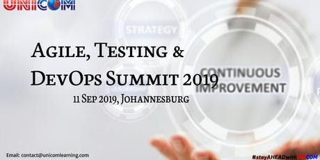 Agile, Testing & DevOps Summit 2019 -  Johannesburg tickets