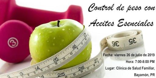 Control de peso con aceites esenciales