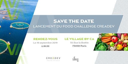 Petit déjeuner de lancement du Food Challenge Creadev