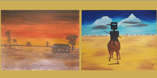 Paint N Eat N Sip at The Outback  20th Oct 2-4pm For Non-Artist Fun!