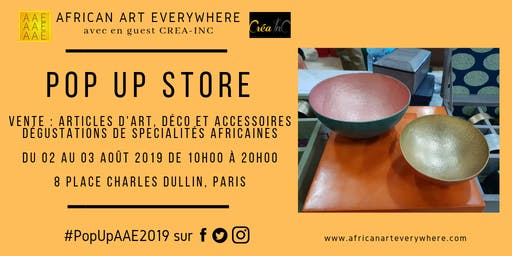 POP UP STORE AFRICAN ART EVERYWHERE