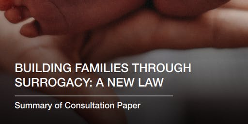 """""""Building families through surrogacy: a new law"""" - a consultation event (London)"""
