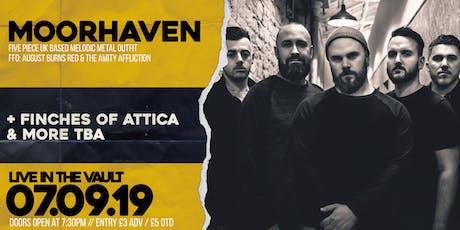 Moorhaven: EP Launch  // The Vault // 07.09.2019 tickets