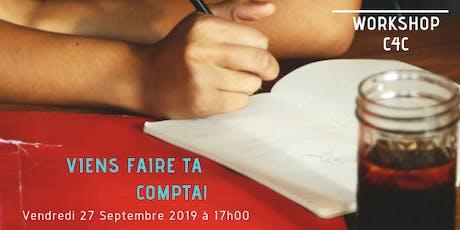 Workshop du 27 Septembre chez C4C, Ecole des métiers de la Gestion billets