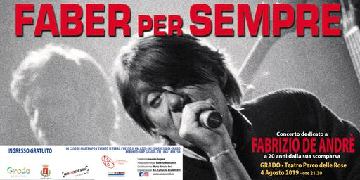 FABER per SEMPRE: Concerto dedicato a Fabrizio De Andrè