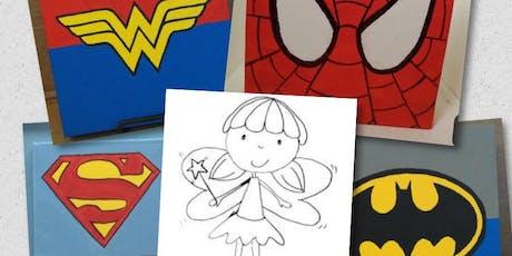 Fairy or Super Hero Canvas tickets