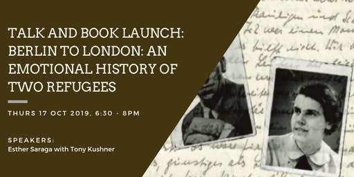 Book Launch: Berlin to London: An Emotional History of Two Refugees