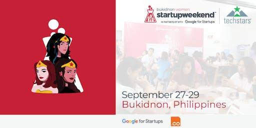 Techstars Startup Weekend Bukidnon: Women Edition 09/2019