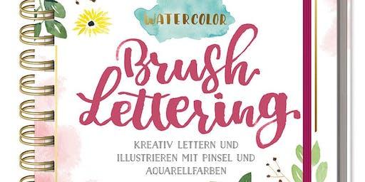 Watercolor / Brushlettering Buchpräsentation, Lesung und Live Vorführung