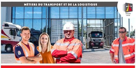 Portes Ouvertes • Métiers du transport et de la logistique • Groupe Laure billets