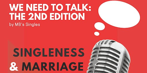 We need to Talk...: The 2nd Edition