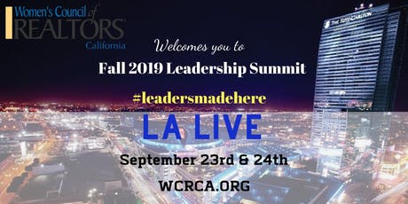 Women's Council of REALTORS® - California State 2019 Fall Leadership Summit tickets