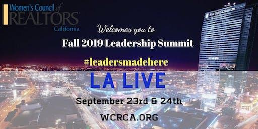 Women's Council of REALTORS® - California State 2019 Fall Leadership Summit
