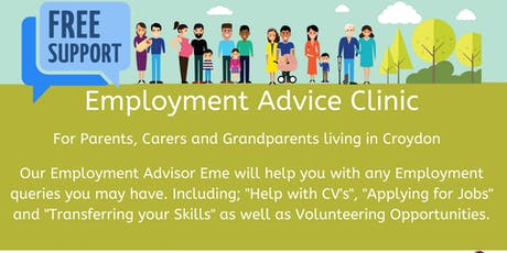 Employment Advice Clinic for Croydon Parents - Broad Green Library tickets