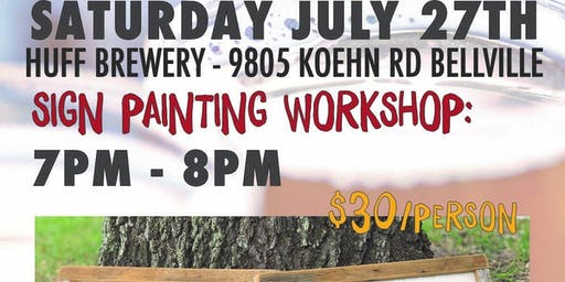 Sign Painting Workshop with Sartain's Awesome Shoppe