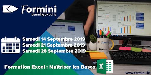 Formation EXCEL: Maitriser Les Bases - Septembre 2019