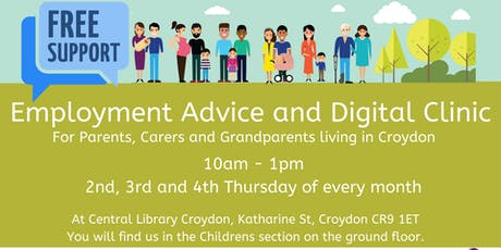 Employment Advice and Digital Skills Clinic - Croydon tickets