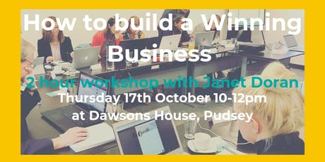 How to Build a Winning Business with Janet Doran In Business tickets