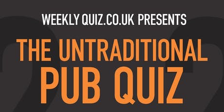 The Untraditional Pub Quiz tickets