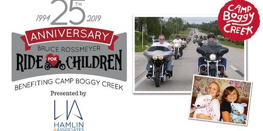 The 25th Anniversary Bruce Rossmeyer Ride for Children