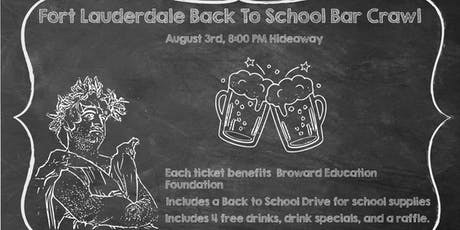 Fort Lauderdale Back To School Bar Crawl tickets