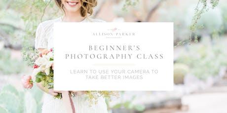 Beginner's Photography Class (August 18) tickets