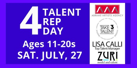 4 Talent Rep Day tickets