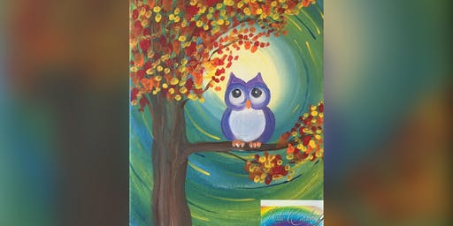 2 for 1 Canvas Lil' Owl: Pasadena, Greene Turtle with Artist Katie Detrich!