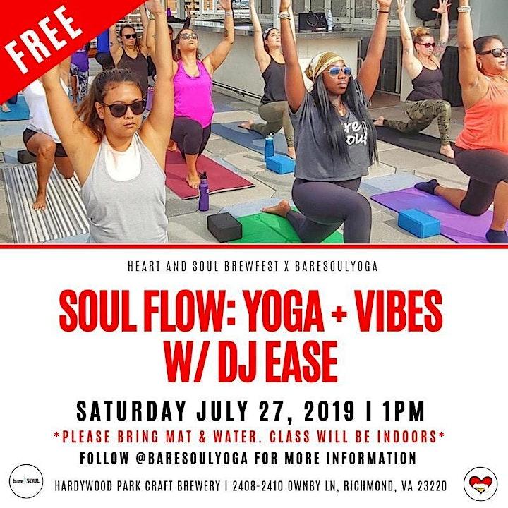 SOUL Flow: Yoga + Vibes w/ BareSOUL Yoga + DJ Ease image