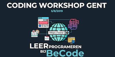 Coding workshop Gent