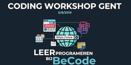 Coding workshop Gent tickets