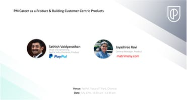 PM Career as a Product & Building Customer Centric Products