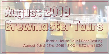 August Brewmaster Tours tickets