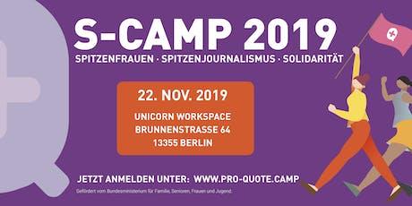 S-Camp: Spitzenfrauen, Spitzenjournalismus, Solidarität Tickets