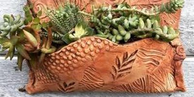 Clay Succulent Wall Planter