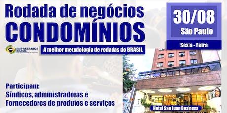 Rodada de negócios - CONDOMÍNIOS - 30-08-2019 ingressos