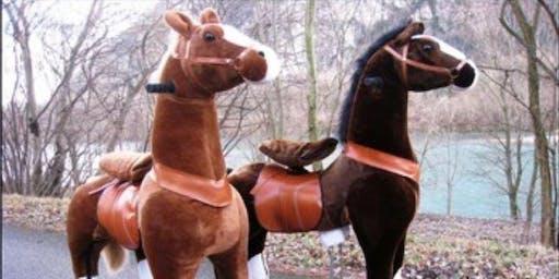 Course de chevaux mécaniques à la Haute Foire de Pontarlier