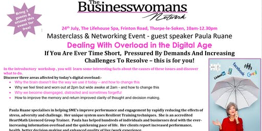 The Business Womans Network - Masterclass and Networking Event