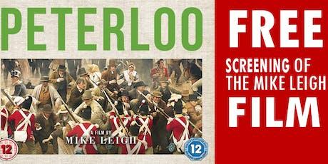 Peterloo film at Ryecroft  tickets
