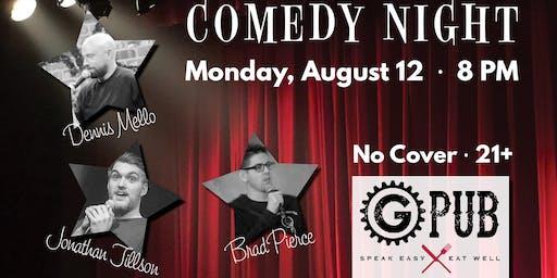 GPub August Comedy Night