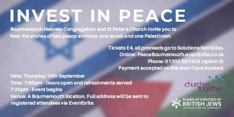 Invest in Peace - Bournemouth 2019 tickets